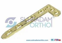 2.4/2.47mm LCP L Dorsal Distal Radius Locking Plate 3 Hole Head