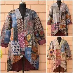 Full Sleeve Quilted Jacket Long Back Jackets