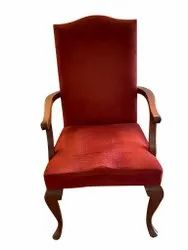6 Chairs Brown and Red Wooden Dining Chair, For Home