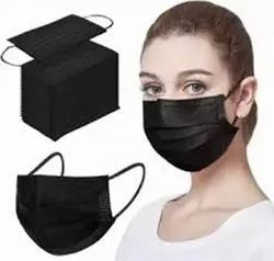 Black Disposable 3 Layer Face Mask
