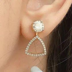 Tops Gold Diamond Earrings