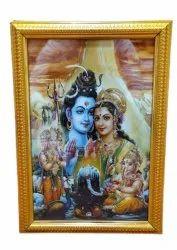 Aluminium And Glass Shiv Parivaar Photo Frame