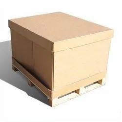 Shreenathji Brown Wooden Pallet Box, For Packaging, Capacity: 500kg