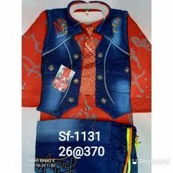 Red & Blue Kid'S Suit