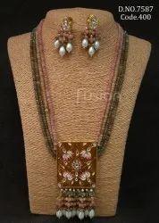 Fusion Arts Designer Meenakari Kundan Necklace Set
