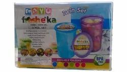 Transparent Food Storage Container Mayo Fresheka Plastic Multi Purpose Containers, Packaging Type: Box, Capacity: 1000ml