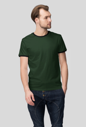 Round Half Sleeve Men Ringer T Shirt