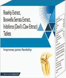 Rosehip Extract, Bosewellia Serrata Extract, Iridoforce Tablet