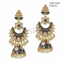 Fusion Arts Designer Meenakari Jhumka Earring