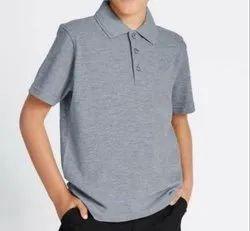 Behariji Enterprises Summer Cotton Boys School T-Shirt, Size: XS-XXL