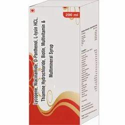 Lycopene, Niacinamide, D-panthenol,  Multimineral Syrup