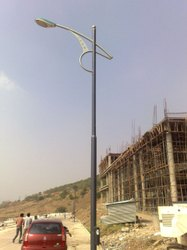 Single Arm Bracket Tubular Street Light Pole