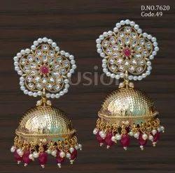 Fusion Arts Antique Kundan Earrings