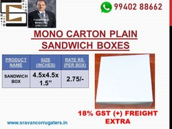 Small sandwich mono carton unprinted