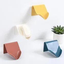 Self Adhesive Wall Mounted Soap Holder For Bathroom, Self Draining Slanting Design