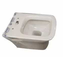 Open Front White Lovex Western Toilet Seat, For Home
