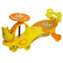 Young Wheel Orange Swing Car With Back Support