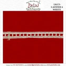 LKCF-Ladder 6 White 15mm Knitted Lace, For Dupatta