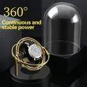 Medetai M2 Auto Silent Watch Winder Oval Shape Wristwatch Box With Us Plug (black)