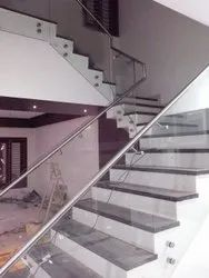 Glass Staircase Railing, For Home
