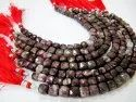 Natural Tourmaline Beads 3D Cube Box Shape Briolette 6mm To 8mm Beads