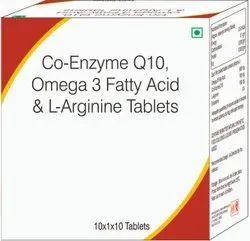 Co-Enzyme Q10, Omega 3 Fatty Acid & L-Arginine Tablets