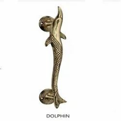 Dolphin Brass Pull Handle