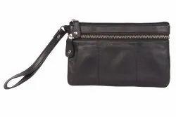 Black Handy leather bag, Size: Standard
