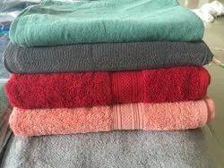 Multicolor Plain Cotton Terry Bath Towels, For Bathroom, 550-650 GSM