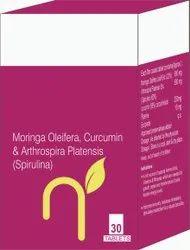 Moringa Oleifera, Curcumin & Arthrospira Platensis (spirulina) Tablet