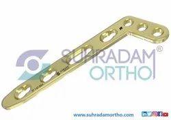 2.4/2.7mm LCP L Dorsal Distal Radius Locking Plate Oblique Angle 3 hole head