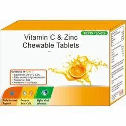 VITAMIN C & ZINC CHEWABLE TABLETS