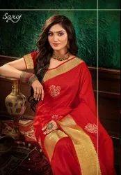 Fancy Soft Silk  Banarasi  Border Saree