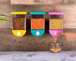 Qualityzone Plastic Push Food Storage Container