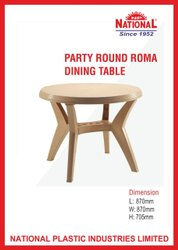 National - Party Round Roma Dining Table