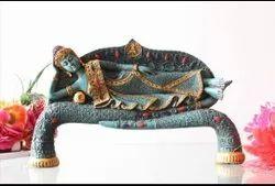 Polyresin Religious 15 inch Buddha Sleeping Showpiece, For Decoration
