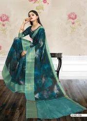 Ladies Fancy Printed Cotton Saree