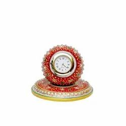 Radhey shree Antique marble clock, For Office, Shape: Round