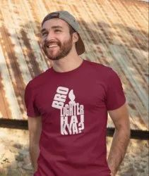 Round Half Sleeve Mens Graphic T Shirts