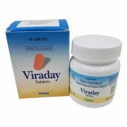 Viraday (Emtricitabine 200 Mg + Tenofovir Disoproxil Fumarate 300 Mg + Efavirenz 600 Mg)