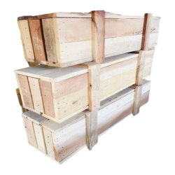 Rectangular Soft Wood Wooden Pallet Packaging Box, Capacity: 100kg