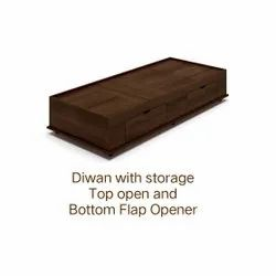 Wooden Single Diwan With Storage