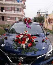 Mix Colour Weeding Wedding Car Decoration With Rose And Gerbera, In Bangalore