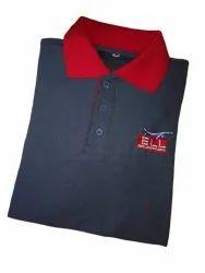 Cotton Half Sleeve Men Casual Collar T Shirt, Size: Large