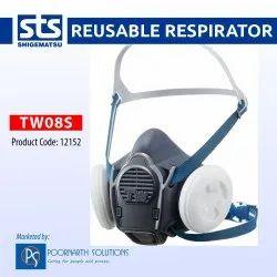 Shigematsu TW08S Half Face Reusable Respirator Mask, Dual Cartridge Mask