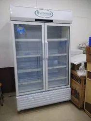 Vertical Glass Double Door Freezer