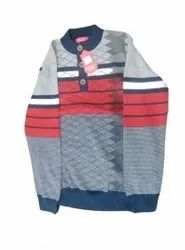 Woolen Round Neck Mens Printed Full Sleeve Sweater, Size: S,M And L