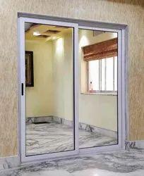 Aluminium Sliding Glass Door, For Office, Thickness: 15mm