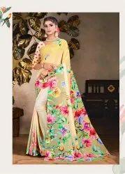 Pure Printed Silk Saree