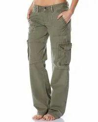 Cotton Plain Mens Cargo Pants